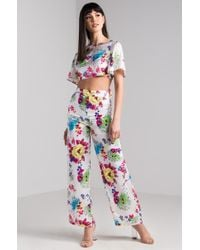 AKIRA - Did You Miss Me Floral Pants - Lyst