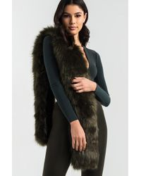 AKIRA - Play Your Ace Faux Fur Stole - Lyst