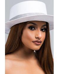 AKIRA - End Of Time Wicker Brim Hat - Lyst