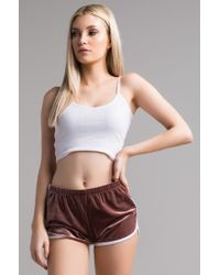 PAXTON - Starlee Velvet Booty Shorts - Lyst