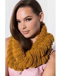 AKIRA - Like That Knit Infinity Scarf - Lyst
