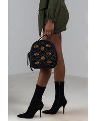 AKIRA - Around The World Velvet Backpack - Lyst