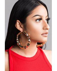 Unk - Uptown F Hoop Earrings - Lyst