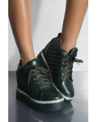 AKIRA - As Long As I Can Dance Flatform Lace Up Sneakers - Lyst