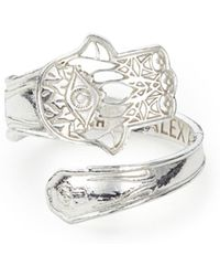 ALEX AND ANI - Hand Of Fatima Spoon Ring - Lyst