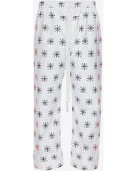 Alexander McQueen - Cotton Oxford Bandana Trousers - Lyst