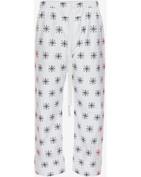 Alexander McQueen - Cotton Oxford Bandana Pants - Lyst