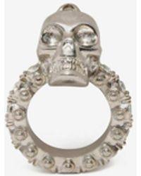Alexander McQueen - Jewelled Skull Ring - Lyst