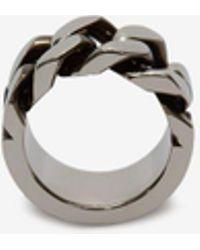 Alexander McQueen - Ring mit Kettengliedern - Lyst