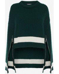 Alexander McQueen - Cropped Knit Sweater - Lyst
