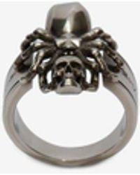 Alexander McQueen - Spider Skull Ring - Lyst