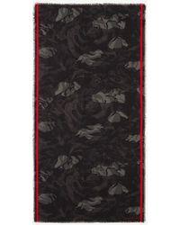 Alexander McQueen - Scialle Camouflage Rose - Lyst