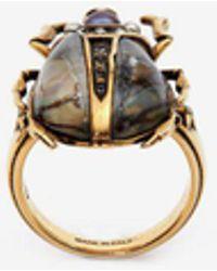 Alexander McQueen - Beetle Ring - Lyst