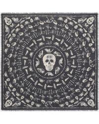Alexander McQueen - Skulls And Bones Scarf - Lyst