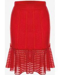 Alexander McQueen - Sheer Knit Mini Skirt - Lyst
