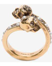 Alexander McQueen - Wrap-around Skull Ring - Lyst