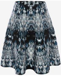 Alexander McQueen Crystal Jacquard Mini Skirt - Multicolour
