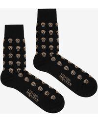 Alexander McQueen - Short Skull Socks - Lyst