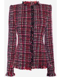 Alexander McQueen - Artisan Tweed Fitted Jacket - Lyst