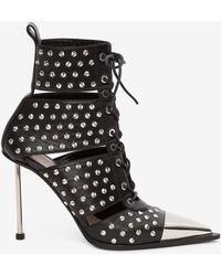 Alexander McQueen - Cutaway Boot - Lyst