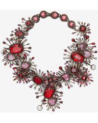 Alexander McQueen   Jeweled Rose Choker   Lyst