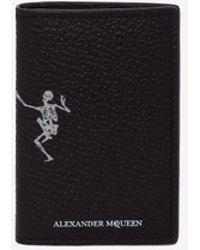 """Alexander McQueen - Organiser Tascabile """"Dancing Skeleton"""" in Pelle - Lyst"""