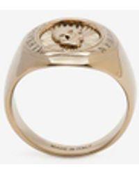 Alexander McQueen - Skull Medallion Oval Ring - Lyst