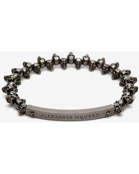 Alexander McQueen Bracelet « skulls » - Métallisé