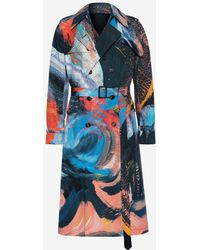 Alexander McQueen - Painters Canvas Trench Coat - Lyst