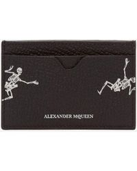 "Alexander McQueen - ""dancing Skeleton"" Leather Card Holder - Lyst"