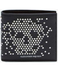 Alexander McQueen - Studded Leather Billfold Wallet - Lyst