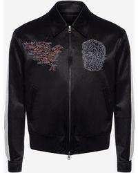 Alexander McQueen - Embroidered Skull Map Bomber Jacket - Lyst