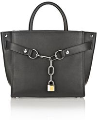Alexander Wang - Attica Chain Large Satchel In Black With Rhodium - Lyst