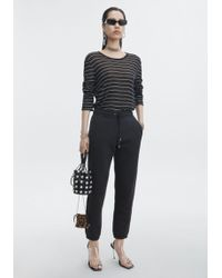 T By Alexander Wang - Long Sleeve Striped Tee - Lyst