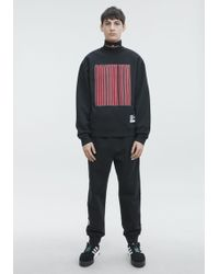 Alexander Wang - Long Sleeve Crew Neck Barcode Sweatshirt - Lyst