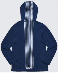Alexander Wang - Exclusive Hoodie Pullover With Barcode Logo - Lyst