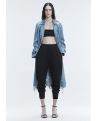 T By Alexander Wang - Boiled Wool Joggers - Lyst