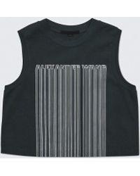 Alexander Wang - Barcode Cropped Top - Lyst