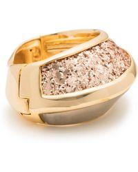 Alexis Bittar - Asymmetrical Glitter Inlay Hinge Bracelet - Lyst