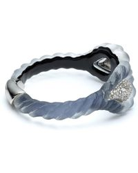 Alexis Bittar - Frosted Crystal Encrusted Paisley Rope Hinge Bracelet - Lyst