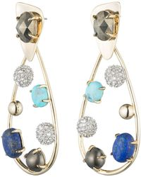 Alexis Bittar - Multi Stone Crystal Accented Modernist Dangling Post Earring You Might Also Like - Lyst
