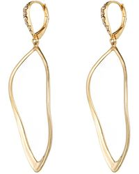 Alexis Bittar - Gold Sculpted Aura Teardrop Earring - Lyst