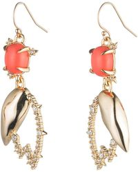 Alexis Bittar - Crystal Encrusted Abstract Tulip Drop Wire Earring - Lyst