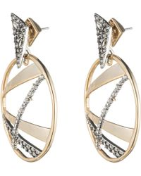 Alexis Bittar - Crystal Encrusted Plaid Dangling Post Earring You Might Also Like - Lyst
