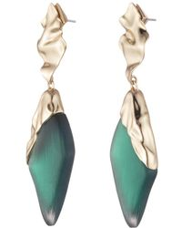 Alexis Bittar - Crumpled Gold Dangling Post Earring - Lyst