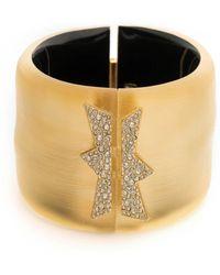 Alexis Bittar - Crystal Encrusted Jagged Hinge Bracelet - Lyst