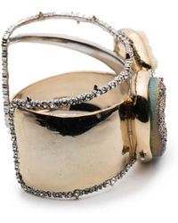 Alexis Bittar - Druzy Stone Cluster Cuff Bracelet You Might Also Like - Lyst