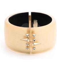Alexis Bittar - Golden Studded Hinge Bracelet - Lyst