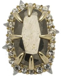 Alexis Bittar Two Tone Pyrite Stone Slide You Might Also Like
