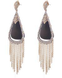 Alexis Bittar - Crystal Capped Tassel Chain Post Earring - Lyst